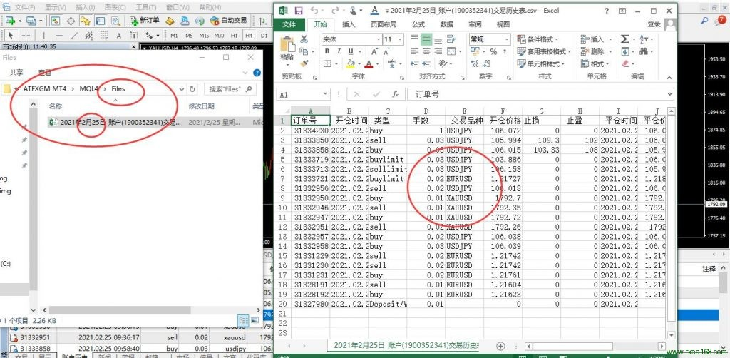 MT4交易历史导出为EXCEL表格的脚本进行交易历史数据分析